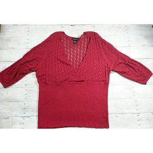 Lane Bryant Red Sweater Size 26/28